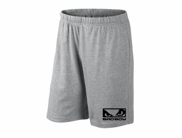 Мужские спортивные шорты bad boy, бед бой, серые (в стиле), фото 2