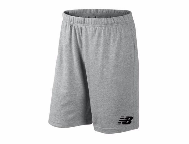 Мужские спортивные шорты New Balance, нью беланс, серые (в стиле)