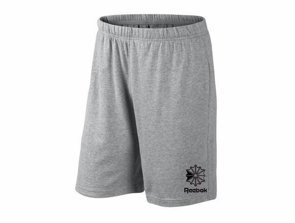 Мужские спортивные шорты Reebok, рибок, серые (в стиле)