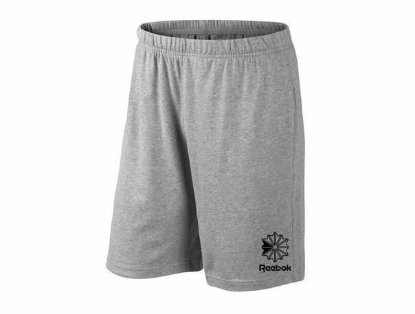 Мужские спортивные шорты Reebok, рибок, серые (в стиле), фото 2