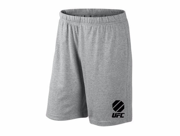 Мужские спортивные шорты UFC, юфс, серые (в стиле), фото 2