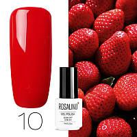Гель-лак для ногтей маникюра 7мл Rosalind, шеллак, 10 темно-красный