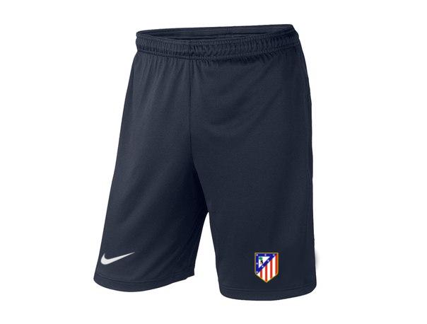 Мужские футбольные шорты Атлетико, Atletico, темно-синие, фото 2