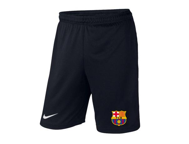 Мужские футбольные шорты Барселона, Barcelona, черные
