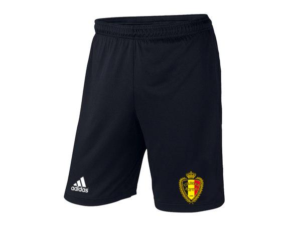 Мужские футбольные шорты Сборной Бельгии, Belgium, черные, фото 2