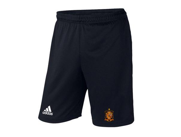 Мужские футбольные шорты Сборной Испании, Spain, черные, фото 2