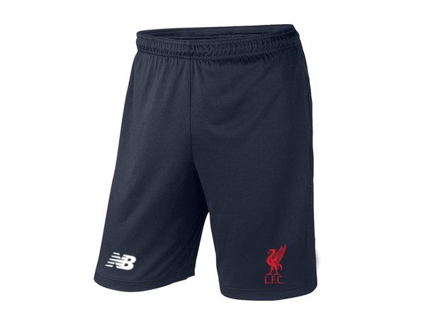 Мужские футбольные шорты Ливерпуль, Liverpool, темно-синие, фото 2