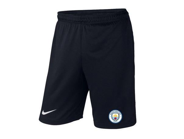 Мужские футбольные шорты Манчестер Сити, Manchester city, черные