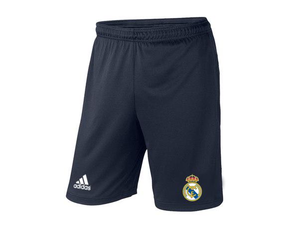 Мужские футбольные шорты Реал Мадрид, Real Madrid, темно-синие, фото 2
