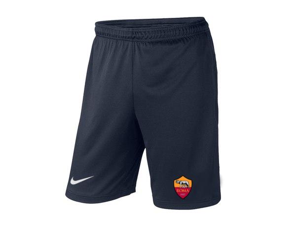 Мужские футбольные шорты Рома, Roma, темно-синие, фото 2