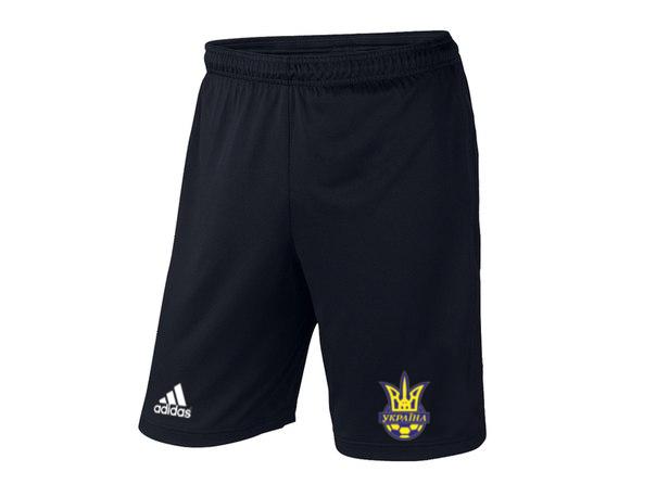 Мужские футбольные шорты Сборной Украины, черные, фото 2