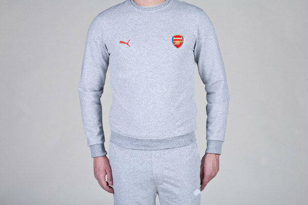 Футбольный костюм Puma-Arsenal, Арсенал, Пума, серый, фото 2