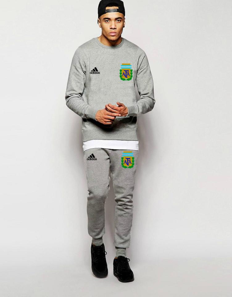 Футбольный костюм сборной Аргентины, Argentina, Adidas, Адидас, серый