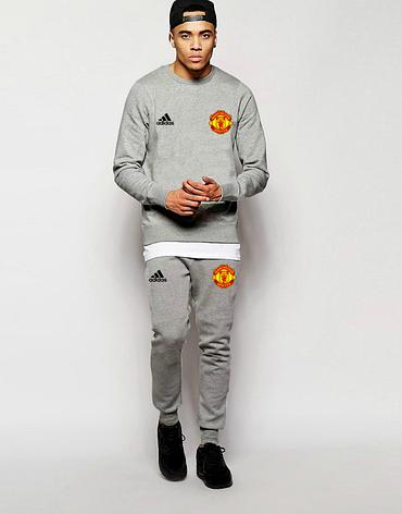 Футбольный костюм Манчестер Юнайтед, MU, Adidas, Адидас, серый, фото 2