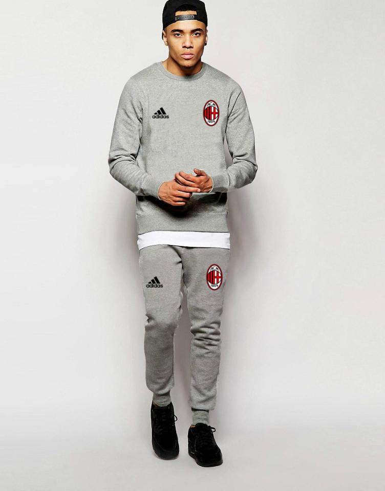 Футбольный костюм Милан, Milan. Adidas, Адидас, серый