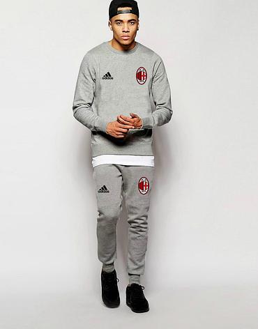 Футбольный костюм Милан, Milan. Adidas, Адидас, серый, фото 2