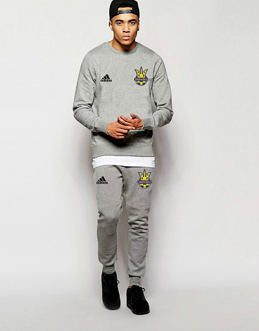 Футбольный костюм Сборной Украины, Адидас, Adidas, серый, фото 2
