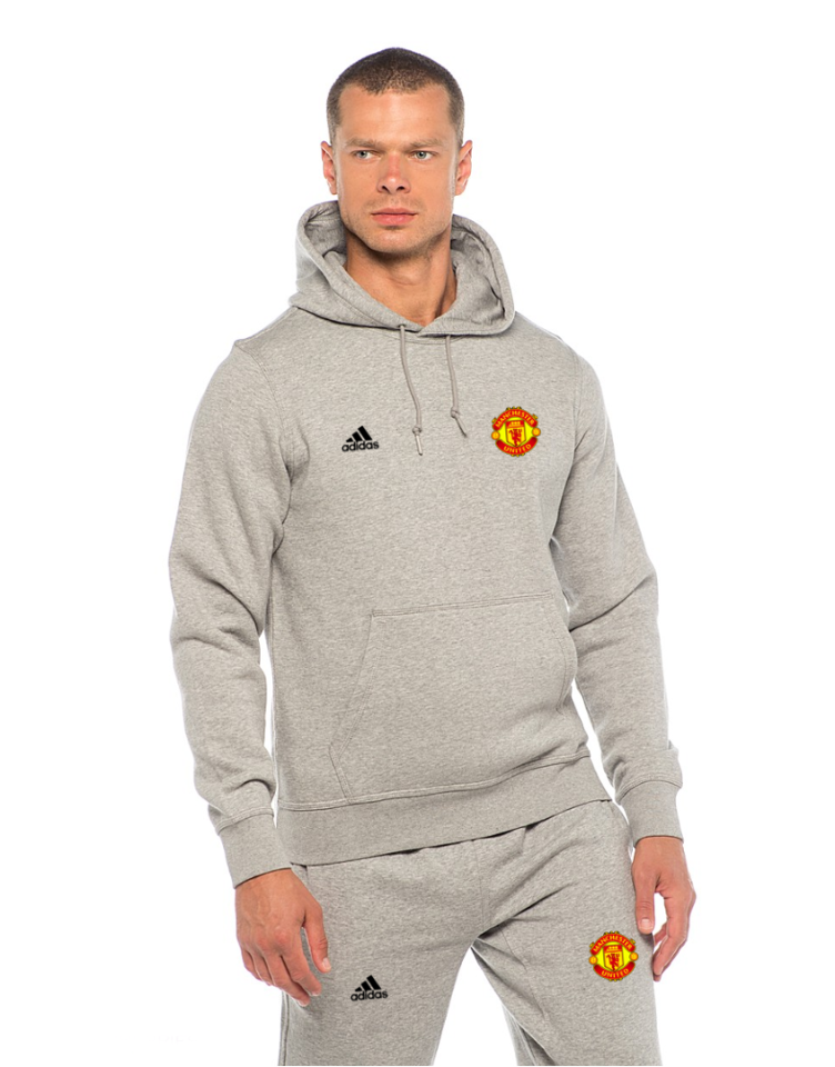 Футбольный костюм Манчестер Юнайтед, MU, Adidas, Адидас, серый