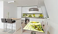 Наклейка 3Д виниловая на стол Zatarga «Оливки Оливковое масло Греция» 650х1200 мм для домов, квартир, столов,, фото 1