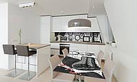 Наклейка 3Д виниловая на стол Zatarga «Ретро Черно-белый» 650х1200 мм для домов, квартир, столов, , фото 1