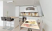 Наклейка 3Д виниловая на стол Zatarga «Винтажные Картины» 600х1200 мм для домов, квартир, столов, , фото 1