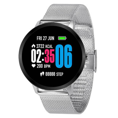 Смарт часы фитнес браслет Lemfo V11 Metal с тонометром и пульсометром Серебристый (738), фото 2