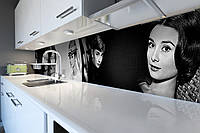 Скинали на кухню Zatarga «Одри Хепберн» 650х2500 мм виниловая 3Д наклейка кухонный фартук самоклеящаяся, фото 1