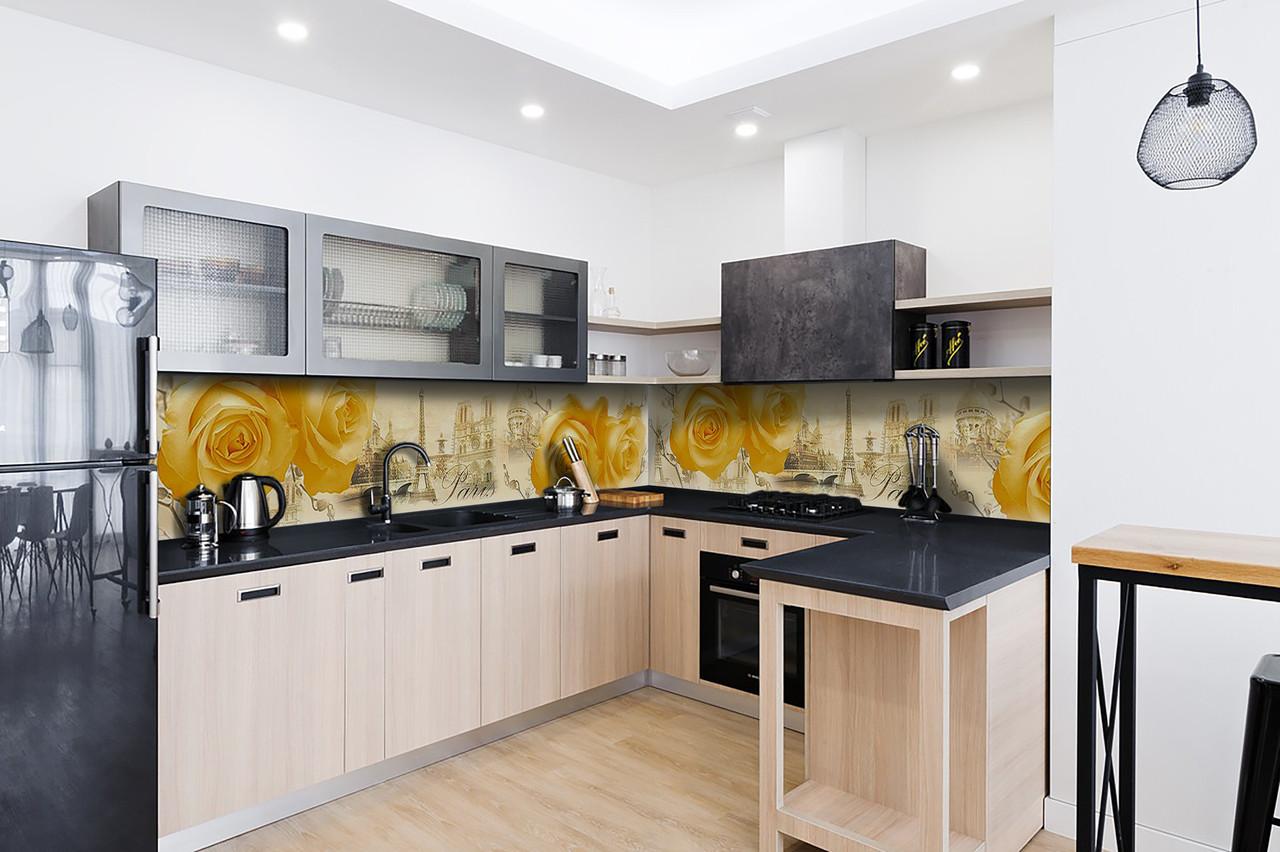 Скинали на кухню Zatarga «Amour» 600х2500 мм виниловая 3Д наклейка кухонный фартук самоклеящаяся