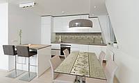 Наклейка 3Д виниловая на стол Zatarga «Винтажные Хризантемы» 650х1200 мм для домов, квартир, столов, , фото 1