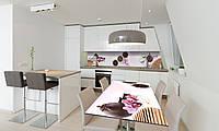 Наклейка 3Д виниловая на стол Zatarga «Чайный набор» 600х1200 мм для домов, квартир, столов, кофейн,, фото 1