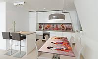 Наклейка 3Д виниловая на стол Zatarga «Гейши» 600х1200 мм для домов, квартир, столов, кофейн, кафе, фото 1