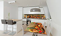 Наклейка 3Д виниловая на стол Zatarga «Ананасы» 650х1200 мм для домов, квартир, столов, кофейн, кафе