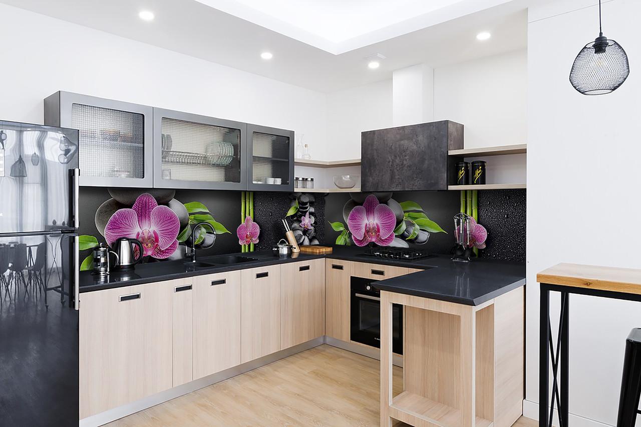 Скинали на кухню Zatarga «Гармонія» 600х3000 мм вінілова 3Д Наліпка кухонний фартух самоклеюча