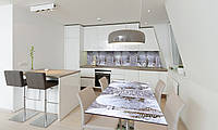 Наклейка 3Д виниловая на стол Zatarga «Зимняя Арка» 650х1200 мм для домов, квартир, столов, кофейн,, фото 1