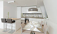 Наклейка 3Д виниловая на стол Zatarga «Белый шелк и Жемчуг» 650х1200 мм для домов, квартир, столов, , фото 1