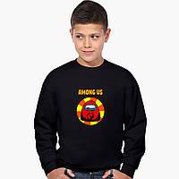 Свитшот для мальчика Амонг Ас Красный (Among Us Red) (9509-2412) Черный
