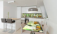 Наклейка 3Д виниловая на стол Zatarga «Жасмин» 600х1200 мм для домов, квартир, столов, кофейн, кафе, фото 1