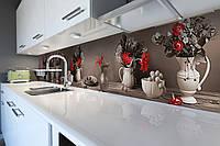 Скинали на кухню Zatarga «Винтажный натюрморт» 650х2500 мм виниловая 3Д наклейка кухонный фартук самоклеящаяся, фото 1