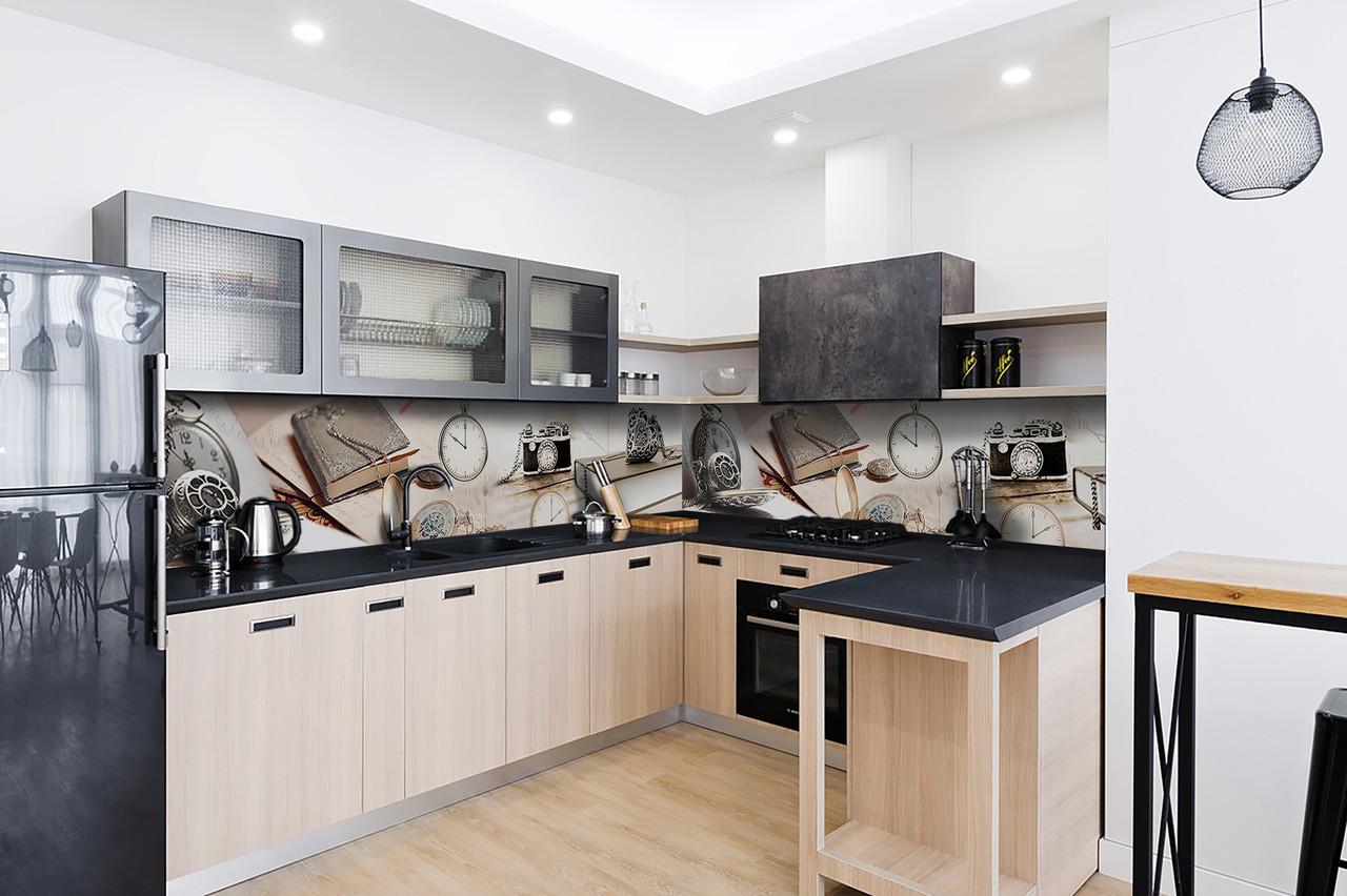 Скинали на кухню Zatarga «Ретро Стиль» 600х3000 мм виниловая 3Д наклейка кухонный фартук самоклеящаяся