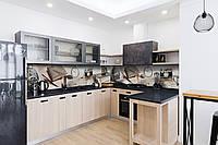 Скинали на кухню Zatarga «Ретро Стиль» 600х3000 мм виниловая 3Д наклейка кухонный фартук самоклеящаяся, фото 1