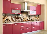 Скинали на кухню Zatarga «Компас» 600х2500 мм виниловая 3Д наклейка кухонный фартук самоклеящаяся, фото 1