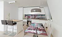 Наклейка 3Д виниловая на стол Zatarga «Розовые деревья» 600х1200 мм для домов, квартир, столов, кофейн,, фото 1