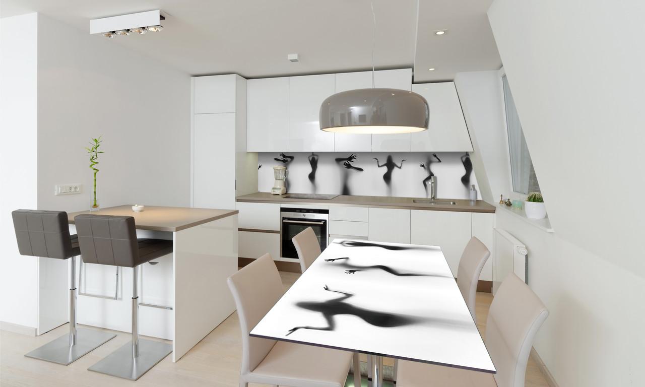 Наклейка 3Д виниловая на стол Zatarga «Силуэт Девушки» 650х1200 мм для домов, квартир, столов, кофейн,