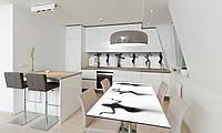Наклейка 3Д виниловая на стол Zatarga «Силуэт Девушки» 650х1200 мм для домов, квартир, столов, кофейн,, фото 1
