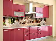 Скинали на кухню Zatarga «Прованс 03» 650х2500 мм виниловая 3Д наклейка кухонный фартук самоклеящаяся, фото 1