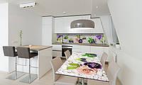 Наклейка 3Д виниловая на стол Zatarga «Ягоды и Цветы» 600х1200 мм для домов, квартир, столов, кофейн,, фото 1