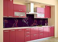 Скинали на кухню Zatarga «Силуэты» 600х3000 мм виниловая 3Д наклейка кухонный фартук самоклеящаяся, фото 1