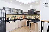 Скинали на кухню Zatarga «Утро в Париже» 650х2500 мм виниловая 3Д наклейка кухонный фартук самоклеящаяся, фото 1