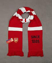 Мужской футбольный шарф ФК Арсенал, Arsenal, красный