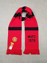 Мужской футбольный шарф ФК Манчестер Юнайтед, Manchester United, красный
